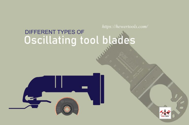 Different types of oscillating tool blades